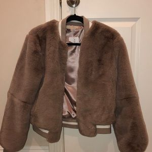 Furry Bomber Jacket